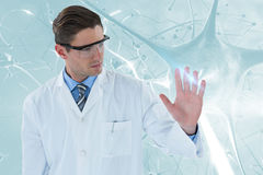 医生感人的透明接口3d的综合图象 皇族释放例证