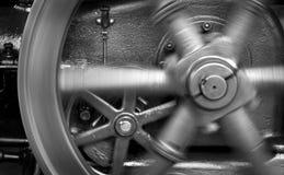 生成器关闭的空转的蒸汽轮子 免版税库存照片