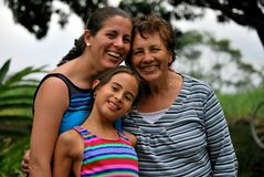 生成讲西班牙语的美国人三妇女 免版税图库摄影