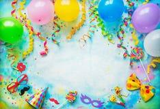 生日、狂欢节或者党背景 库存照片