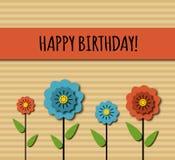 生日与花的贺卡 库存例证