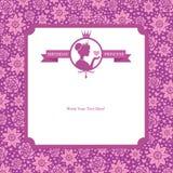生日公主卡片设计 免版税库存图片