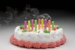 生日吹的蜡烛  免版税库存图片