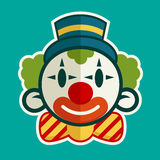 生日小丑 免版税库存照片