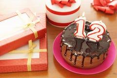 生日庆祝在十二年 免版税库存照片