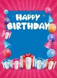 生日庆祝背景 向量例证