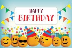 生日快乐传染媒介设计 库存图片