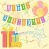 生日快乐卡片 向量例证