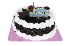 生日快乐奶油蛋糕 库存照片