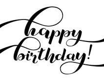 生日快乐字法 祝贺 横幅或明信片的行情 也corel凹道例证向量 库存照片