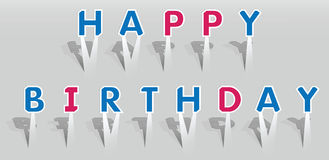 生日快乐字的例证。 免版税库存照片