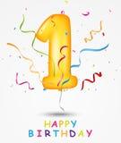 生日快乐庆祝贺卡 向量例证
