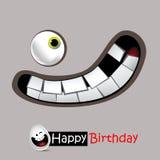 生日快乐微笑是非常滑稽的 免版税库存照片