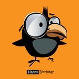 生日快乐微笑鸟 库存图片