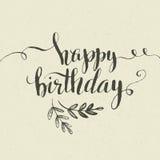 生日快乐手拉的卡片 向量 免版税库存照片
