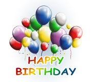 生日快乐有您的气球背景设计 库存照片