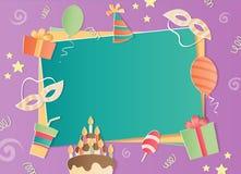 生日快乐照片框架 免版税库存图片