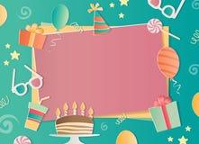 生日快乐照片框架 库存照片