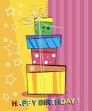 生日快乐看板卡。 免版税库存图片