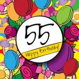 55生日快乐背景或卡片与 向量例证