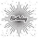 生日快乐被隔绝的传染媒介clipart 库存例证