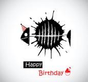 生日快乐鱼 库存图片