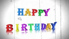 生日快乐,动画 股票视频
