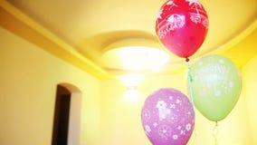 生日快乐,氦气气球 股票视频