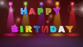 生日快乐,贺卡,动画 股票录像