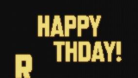 生日快乐!在Jumbotron LED屏幕上 向量例证