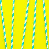 生日或夏天党的秸杆在样式,时髦生动的背景 免版税图库摄影