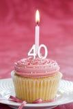 生日杯形蛋糕第四十 图库摄影