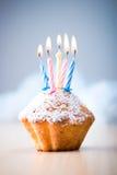 生日杯形蛋糕 免版税图库摄影
