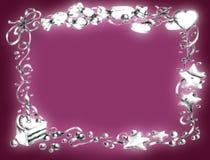 生日框架愉快的粉红色 库存图片