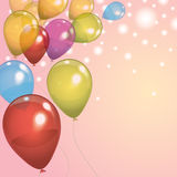生日气球背景 免版税库存图片