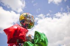 生日气球 库存图片