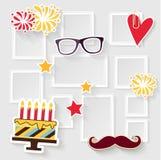 生日照片框架 免版税库存图片