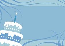 生日男孩蛋糕 向量例证