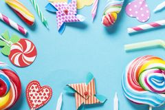 生日糖果 库存图片