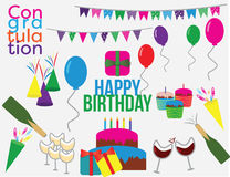 生日聚会24剪贴美术 免版税图库摄影