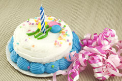 生日蛋糕一年 图库摄影