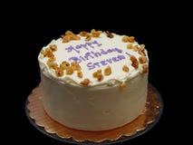 生日蛋糕六史蒂文 库存照片