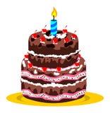 生日蛋糕和蜡烛 库存照片