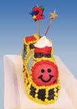 生日蛋糕培训 图库摄影