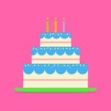 生日蛋糕或婚礼传染媒介象 向量例证