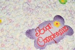 生日蛋糕的装饰 免版税图库摄影