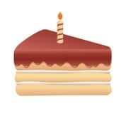 生日蛋糕逗人喜爱的片断  图库摄影