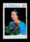 生日,英国女王伊丽莎白二世serie,大约1990年 免版税库存照片