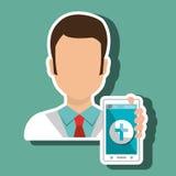 医生智能手机医疗服务 免版税库存照片