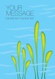 水生植物传染媒介背景 免版税图库摄影